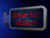 Time concept: Time for Action on billboard background — Stock Photo