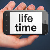 Timeline concept: Life Time on smartphone — Stock Photo