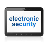 Privacy concept: Electronic Security on tablet pc computer — Stock Photo