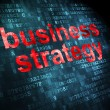 Stock Photo: Finance concept: Business Strategy on digital background