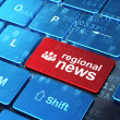 News concept: Business People and Regional News on keyboard — Stock Photo