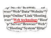 Web development concept: Web Technology on Paper background — Stock Photo