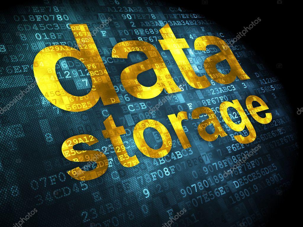 Data concept: Data Storage on digital background — Stock Photo ...