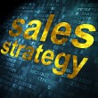 Stock Photo: Marketing concept: Sales Strategy on digital background