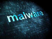 Privacy concept: Malware on digital background — Stock Photo