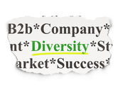 Business concept: Diversity on Paper background — Stock Photo