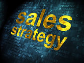 Marketing concept: Sales Strategy on digital background — Stock Photo