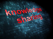 Education concept: Knowledge Sharing on digital background — Stock Photo