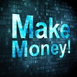 Stock Photo: Finance concept: Make Money! on digital background