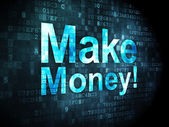 Finance concept: Make Money! on digital background — Foto de Stock