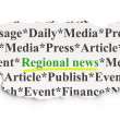 News concept: Regional News on Paper background — Stock fotografie