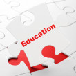 Stock Photo: Education concept: Education on puzzle background