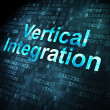 Stock Photo: Business concept: Vertical Integration on digital background
