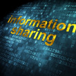 Stock Photo: Information concept: Information Sharing on digital background