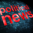 Stock Photo: News concept: Political News on digital background