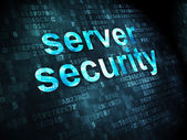 Safety concept: Server Security on digital background — Stock Photo