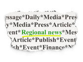 News concept: Regional News on Paper background — Stock Photo