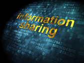 Information concept: Information Sharing on digital background — Stock Photo