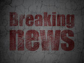 News concept: Breaking News on grunge wall background — Foto Stock