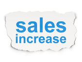 Advertising concept: Sales Increase on Paper background — Stock Photo
