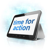 Time concept: Time for Action on tablet pc computer — Stock Photo