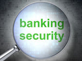 Privacy concept: Banking Security with optical glass — Stok fotoğraf