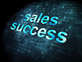 Advertising concept: Sales Success on digital background — Stock Photo