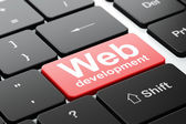 Web development concept: Web Development on computer keyboard background — Stock Photo