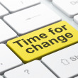 Time concept: Time for Change on computer keyboard background — Stock Photo