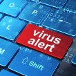 Privacy concept: Virus Alert on computer keyboard background — Stock Photo