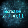 Stock Photo: Finance concept: Increase Your profit on digital background