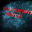 Stock Photo: Information concept: Information Search on digital background