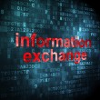 Data concept: Information Exchange on digital background — Stock Photo