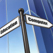Stock Photo: Education concept: sign Computer Education on Building background