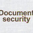 Protection concept: Document Security on fabric texture background — Stok Fotoğraf #34908089