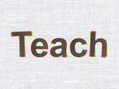 Utbildning koncept: undervisa på tyg textur bakgrund — Stockfoto