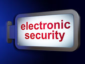 Safety concept: Electronic Security on billboard background — Stock Photo