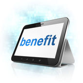 Finance concept: Benefit on tablet pc computer — Stock Photo