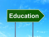 Education concept: Education on road sign background — Foto Stock