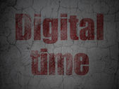 Timeline concept: Digital Time on grunge wall background — Stock Photo