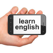Education concept: Learn English on smartphone — Photo