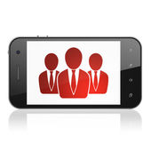 Business concept: Business People on smartphone — Zdjęcie stockowe