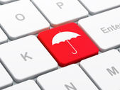 Privacy concept: Umbrella on computer keyboard background — Stock Photo