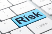 Finance concept: Risk on computer keyboard background — Foto Stock