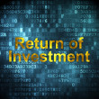 Business concept: Return of Investment on digital background — Stock Photo