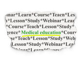 Education concept: Medical Education on Paper background — Stock Photo