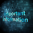Information concept: Important Information on digital background — Stock Photo