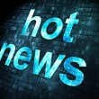 News concept: Hot News on digital background — Stock Photo