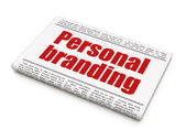 Marketing news concept: newspaper headline Personal Branding — Stockfoto