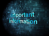 Information concept: Important Information on digital background — Foto de Stock